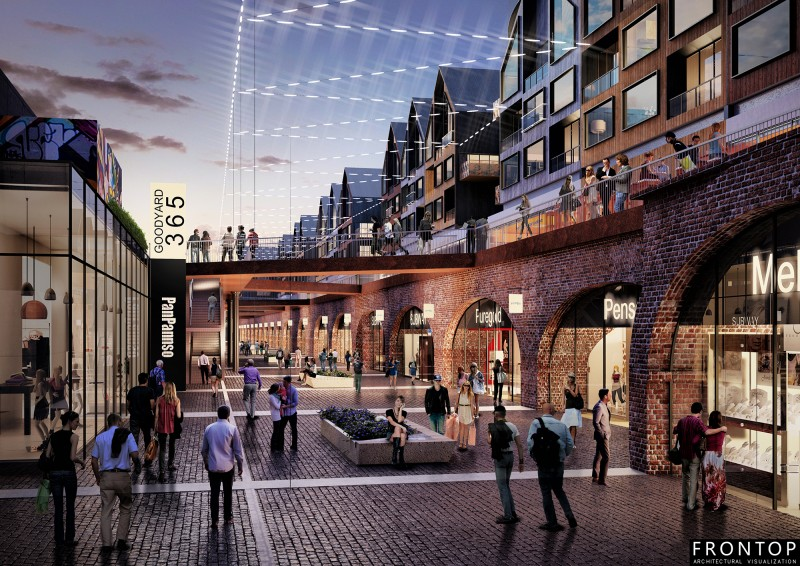 2017 Good Quality Optical Showroom -<br />  Goodsyard Masterplan - Frontop
