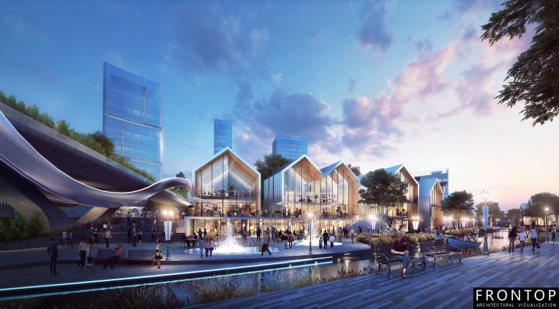 project of a masterplan in Bin Hai