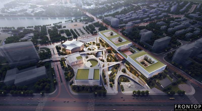 Quzhou Cultural and Art Center and Convenient Service Center